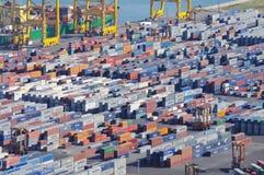 Puerto de Barcelona Imagen de archivo
