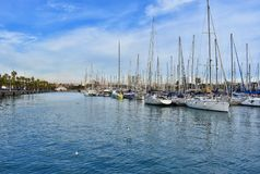 Puerto de Barcelona - España - Europa foto de archivo