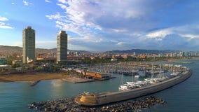 Puerto de Barcelona Olimpic almacen de metraje de vídeo