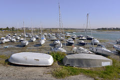 Puerto de Barneville-Carteret en Francia Foto de archivo libre de regalías