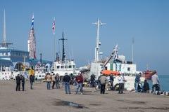 Puerto de Batumi Fotografía de archivo