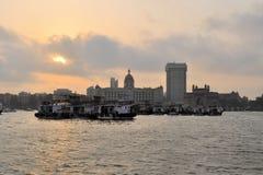 Puerto de Bombay con la puerta de la India, la India fotografía de archivo libre de regalías