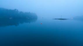 Puerto de Boothbay en la oscuridad Fotos de archivo libres de regalías