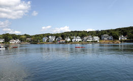Puerto de Boothbay, Maine Imagen de archivo libre de regalías