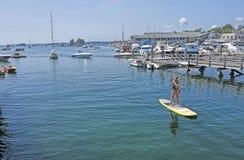 Puerto de Boothbay, Maine Imágenes de archivo libres de regalías