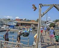 Puerto de Boothbay, Maine Imagen de archivo