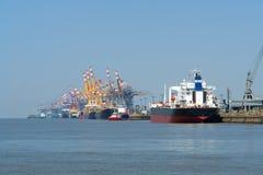 Puerto de Bremerhaven Imagen de archivo libre de regalías