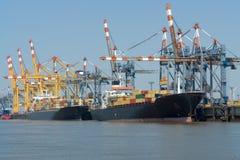 Puerto de Bremerhaven Imagenes de archivo