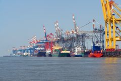 Puerto de Bremerhaven Imagen de archivo