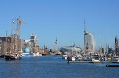 Puerto de Bremerhaven, Alemania imagenes de archivo