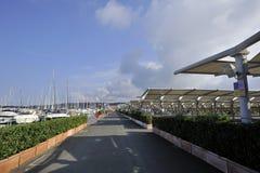 Puerto de Cala de medici Foto de archivo libre de regalías