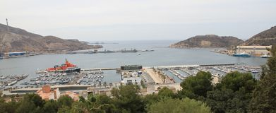 Puerto de Cartagena. Royalty Free Stock Images