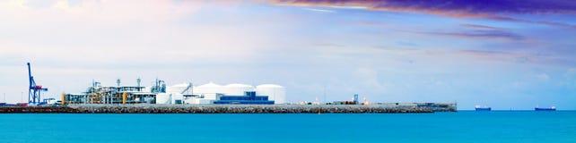 Puerto de Castellon - промышленный порт Стоковое Изображение RF