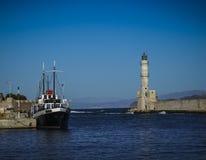 Puerto de Chania fotos de archivo