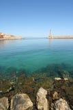Puerto de Chania Foto de archivo libre de regalías