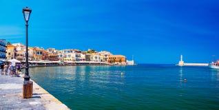 Puerto de Chania, Creta imagen de archivo libre de regalías