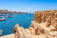 Puerto de Chania Crete, Grecia imagen de archivo libre de regalías