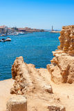 Puerto de Chania Crete, Grecia foto de archivo