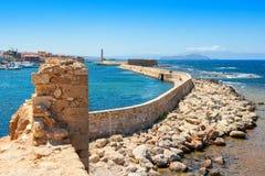Puerto de Chania Crete, Grecia imágenes de archivo libres de regalías