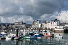 Puerto de Cherbourg fotografía de archivo