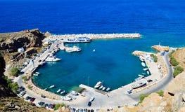 Puerto de Chora Sfakion Fotografía de archivo libre de regalías
