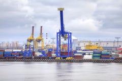 Puerto de ciudad St Petersburg Imagen de archivo libre de regalías