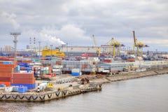 Puerto de ciudad St Petersburg Foto de archivo