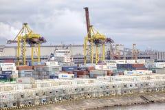Puerto de ciudad St Petersburg Imagenes de archivo