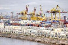 Puerto de ciudad St Petersburg Fotografía de archivo libre de regalías