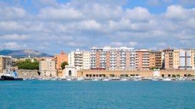 Puerto de Civitavecchia, Italia Imagen de archivo