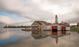 Puerto de cobre Michigan Fotos de archivo libres de regalías