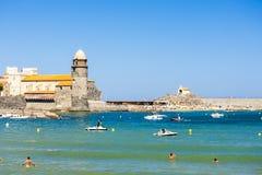 Puerto de Collioure Imagen de archivo libre de regalías