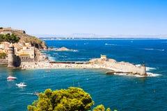 Puerto de Collioure Imágenes de archivo libres de regalías
