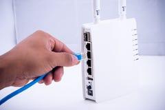 Puerto de conexión del LAN Foto de archivo libre de regalías