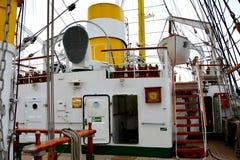 Puerto de Constanta en el Mar Negro ` de Mircea del ` de Marine Ship-School Imagen de archivo libre de regalías