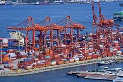 Puerto de Containter Foto de archivo libre de regalías