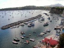 Puerto de Corricella Imagen de archivo libre de regalías