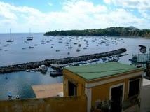 Puerto de Corricella Fotografía de archivo libre de regalías