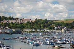 Puerto de Dartmouth y universidad naval imagen de archivo libre de regalías