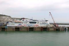 Puerto de Dover, Inglaterra Imágenes de archivo libres de regalías