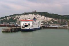 Puerto de Dover, Inglaterra Foto de archivo libre de regalías