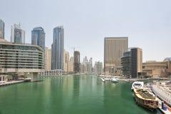 Puerto de Dubai, emiratos árabes unidos Fotos de archivo libres de regalías