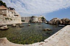 Puerto de Dubrovnik Foto de archivo libre de regalías