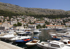 Puerto de Dubrovnik imagenes de archivo