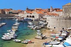 Puerto de Dubrovnik, Croatia Fotografía de archivo libre de regalías