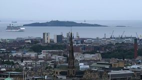 Puerto de Edimburgo almacen de metraje de vídeo