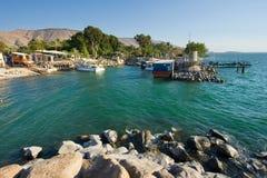 Puerto de Ein Gev Imagen de archivo libre de regalías