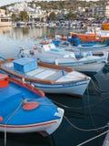 Puerto de Elounda en Creta, Grecia Fotos de archivo libres de regalías