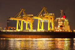 Puerto de envío Foto de archivo