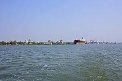 Puerto de Ernakulam fotografía de archivo